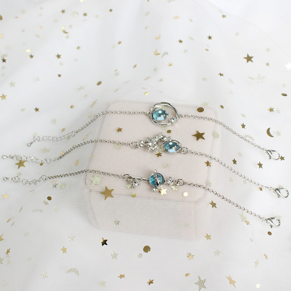 Women 39 s Bracelets Fashion Star Moon Bangles Pearl Crystal Charm Bracelet Beads Girl Metal Chain Jewelry Accessories for Women in Charm Bracelets from Jewelry amp Accessories