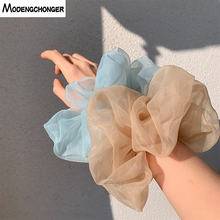 Женские резинки для волос из органзы большого размера в Корейском