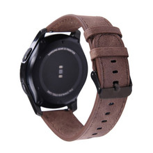 22mm watch leather strap for Samsung Galaxy watch 46mm Gear S3 Frontier band bracelet Huawei watch GT strap Gear S 3 Classic 22mm leather watch band for samsung galaxy 46mm gear s3 classic frontier watches strap replacement for huawei watch gt wristband