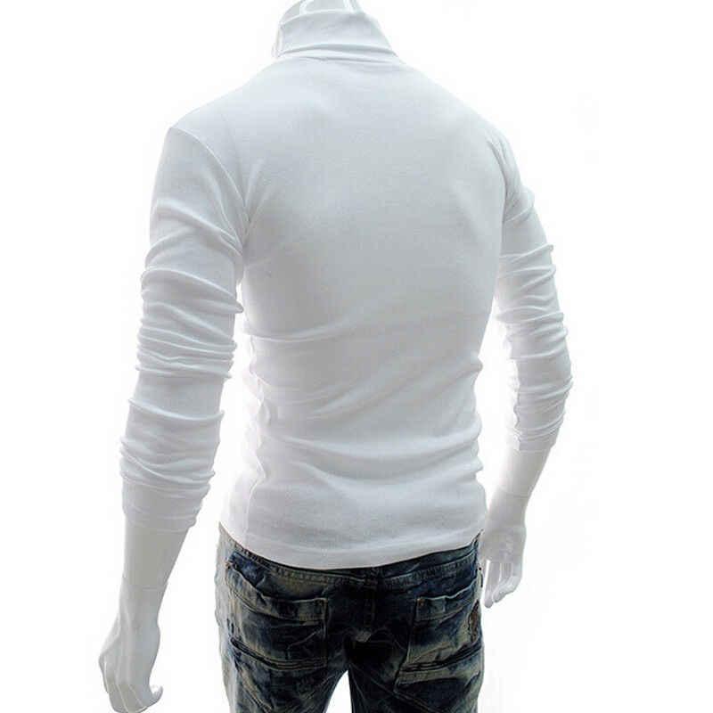 남성 하이 넥 풀오버 긴 소매 스웨터 자켓 점퍼 니트 레귤러 인과상의 탑 셔츠