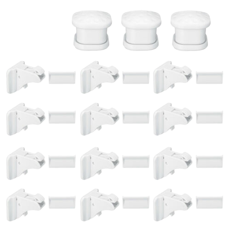 30 Pcs Magnetic Cabinet Drawer Cupboard Lock Kids Baby Safe Child Proof Kit