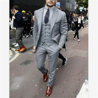 New Classic Men's Suit Smolking Noivo Terno Slim Fit Easculino Evening Suits For Men Business Male good groom dress Blazers