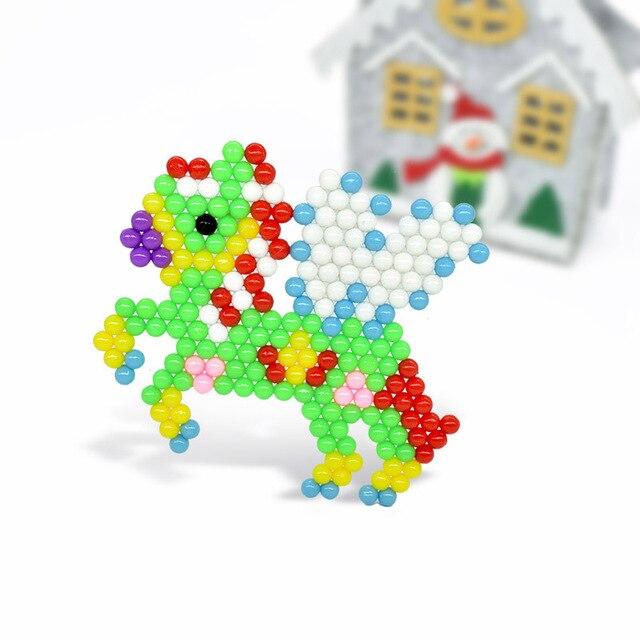 Juego de rompecabezas 3D DIY con cuentas de agua de 5mm, juego de cuentas de agua Hama, juguetes educativos creativos, juguetes de aprendizaje para niños