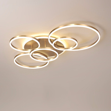 Living room round modern led light round white gold brown LED ceiling light decoration bedroom light with remote control simple decoration personalized balloon led ceiling light living room bedroom round cartoon children light room cl