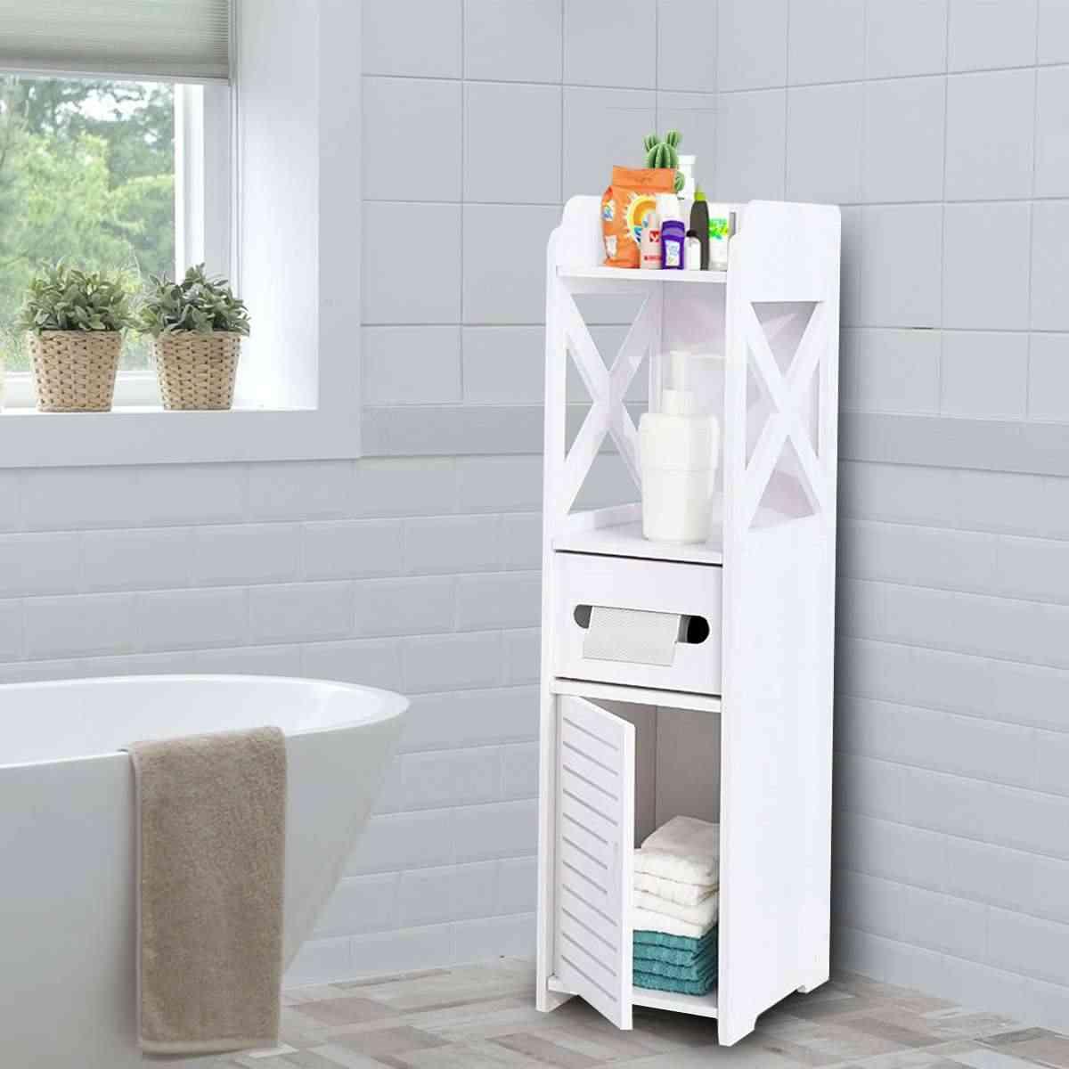 Diy Kleine Bad Wc Schrank Wasserdicht Veranstalter Eitelkeit Stand Rack Waschbecken Dusche Ecke Kleinigkeiten Regal Badezimmerregale Aliexpress