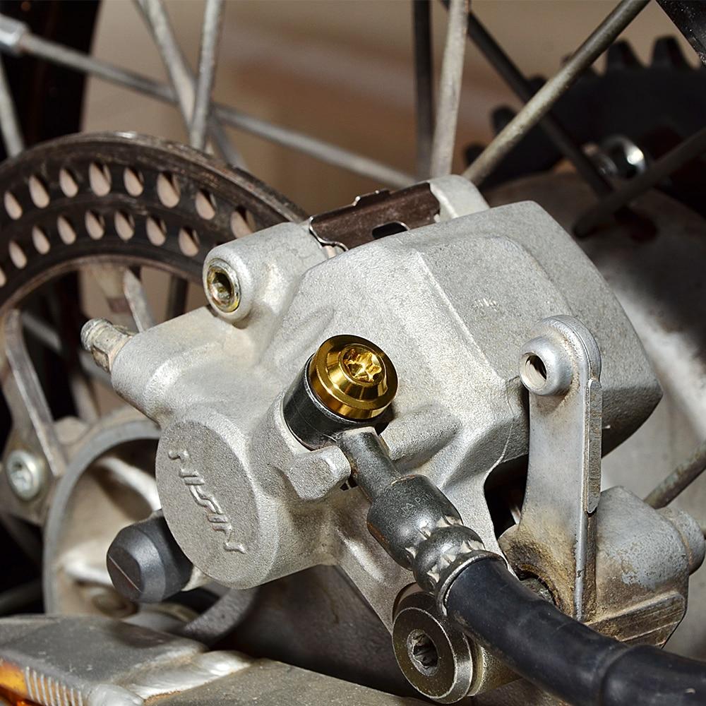 Nicecnc banjo parafuso m10x1.0x19 para linha de mangueira de freio de aço inoxidável único adaptador de montagem de parafusos de freio banjo-5