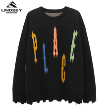 Knitted Pullover Sweater Male Men's Clothing Jumper Letters-Print Cashmere-Wool SEADER