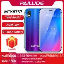 Soyes xs pequeno mini 4g smartphone suporte google play 3gb + 32gb 2gb + 16gb 3.0