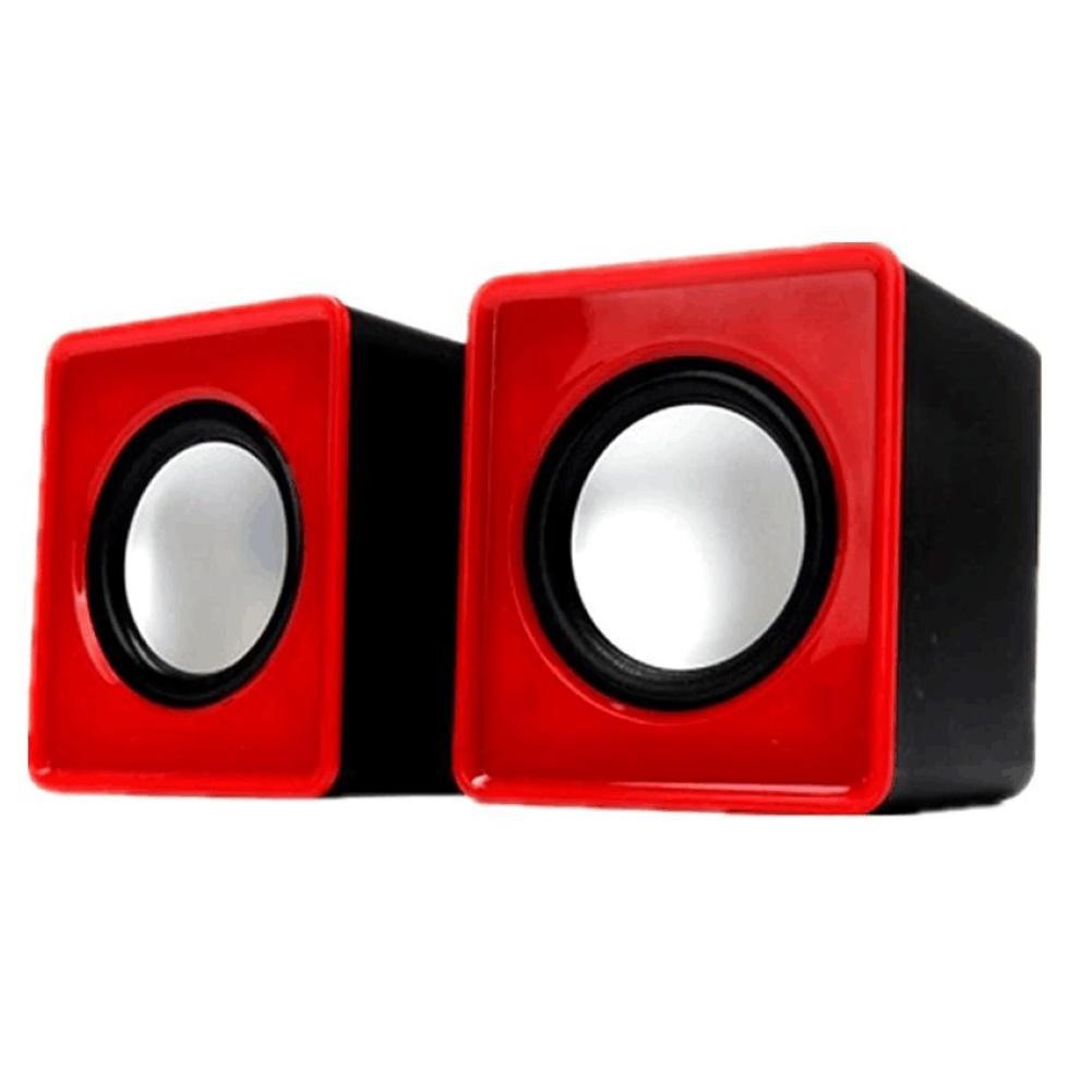 2pcs Computer Speaker Durable Plastic Loudspeaker for Desktop PC Laptop Computer