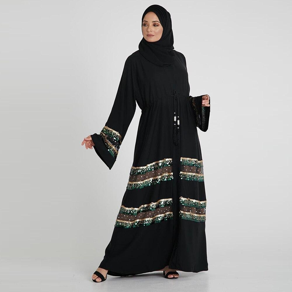 Women Kimono Abaya Turkey Hijab Muslim Dress Kaftan Dubai Caftan Marocain Islamic Clothing Islam Ramadan Robe Musulman Abayas