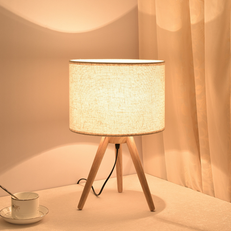 learning the desk lamp that shield an eye solid wood lamps and lanterns is contemporary and contracted hotel room lamp|Table Lamps|   - title=