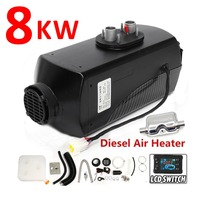 8KW Black Single Hole Heater Air Parking Heater Rotary Switch LCD Switch and Digital Switch With Muffler Silencer