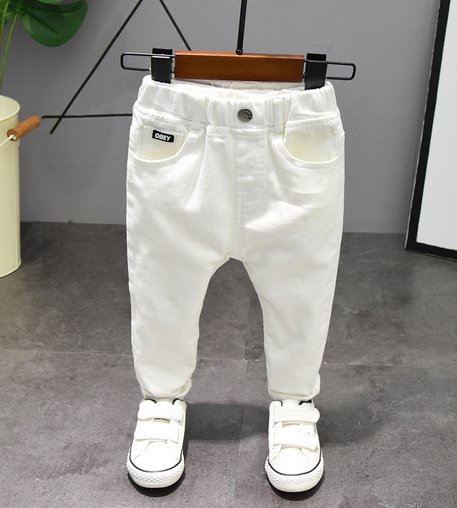 Boys Trousers Chorus Clothing Pure White/Black Students Recital Contest Straight Pants Boys Comfortable Latin Dance Trousers 4
