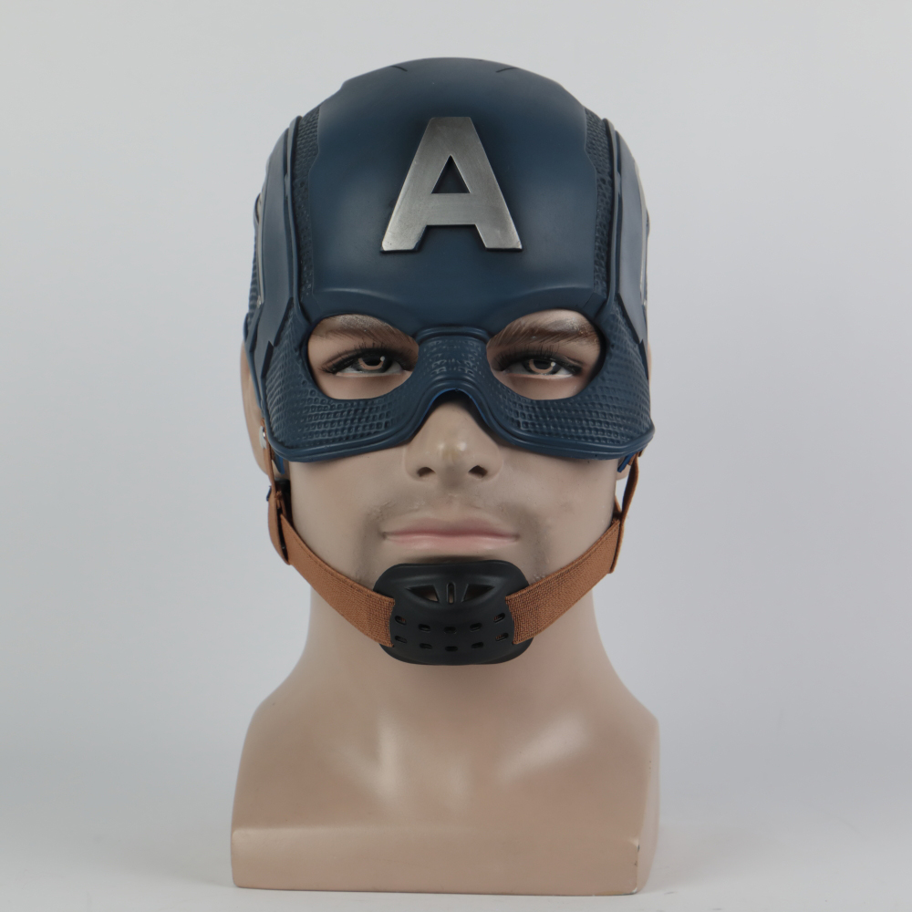 New Mask Captain America Cosplay Mask Costume Halloween Party Latex Adult Prop