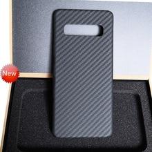 Kevlar faser telefon fall für samsung s10 real carbon fiber Galaxy s10 plus reinem kohlenstoff faser matte licht Einfache business persönliche