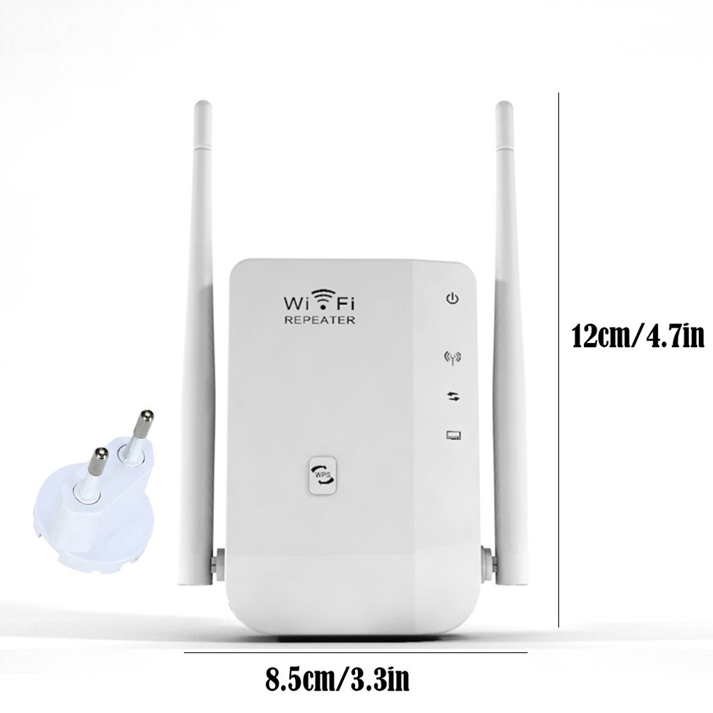 300M Dual Antenna Wifi Repeater Wireless Signal Amplification Extended Signal Booster Professional Fashion