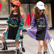 Get more info on the Girls Clothing Dress Plaid Princess Costume Fashion Kids Girl Party Dress Long Sleeve Individuality Patchwork Children's Clothes