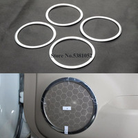 ABS Chrome Door Stereo Speaker Ring Cover Trim For Nissan X Trail X Trail XTrail Rogue T32 2014 2015 2016 2018 Car Accessories