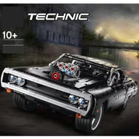 In stock New Technic Super car 42111 Dom S Dodged Charger Model Building Blocks Bricks Compatible Lepining Blocks kids Toys Gift
