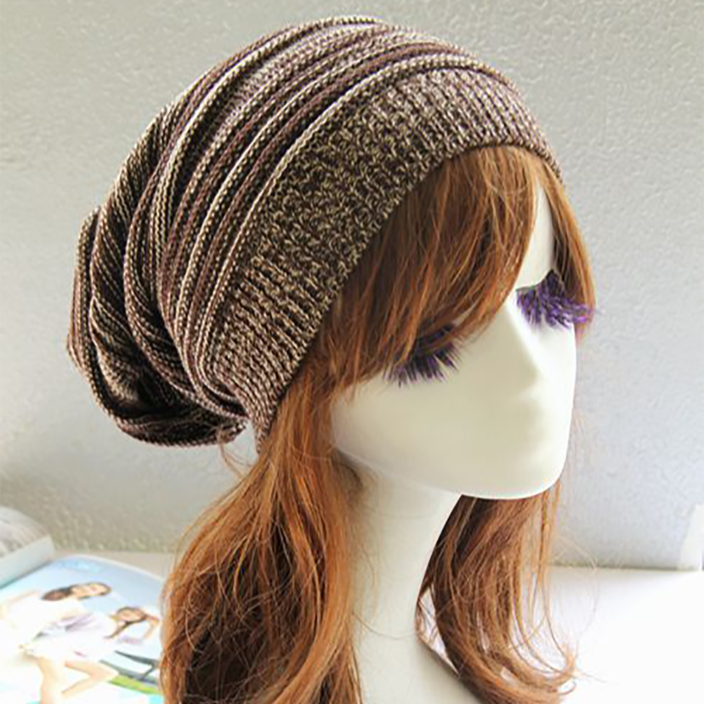Knitted Hat Beanie Winter Soft-Gift Warm Baggy Fashion Women Hip-Hop Casual Cap Ski-Slouchy