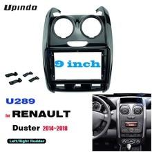2 Din 9 Inch Car Radio DVD GPS Mp5 Plastic Fascia Panel Frame for RENAULT Duster 2014~2018 Dash Mount Kit