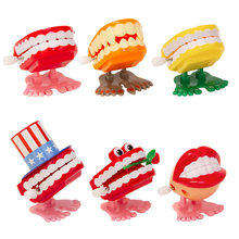 Creative toys Dental Gift dental spring Plastic Toys jumping teeth for children clinic gift
