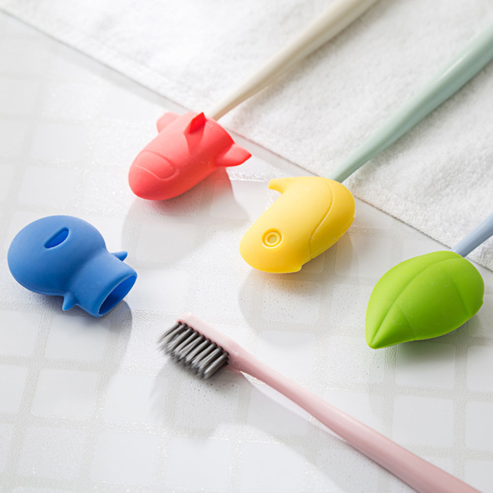 1PC  Cute Silicone Open Water Filter Toothbrush Head Protector Dustproof Antibacterial Family Bathroom Accessories