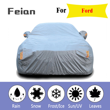 Plus thick velvet Waterproof Full Car Cover Outdoor uv protection dust rain snow protective fit SUV sedan hatchback for Ford