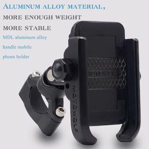 Image 4 - 360 Degree Universal Bike Aluminum Alloy Motorcycle Motorbike Handlebar Phone Holder Stand Mount For 4 6.4 inch Mobile Phone