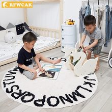 RFWCAK Round Carpet Baby Play Mat Tapete Infantil Rug Kids Carpet Children Floor Mat Cloakroom Rugs And Carpets Kids Room Decor(China)