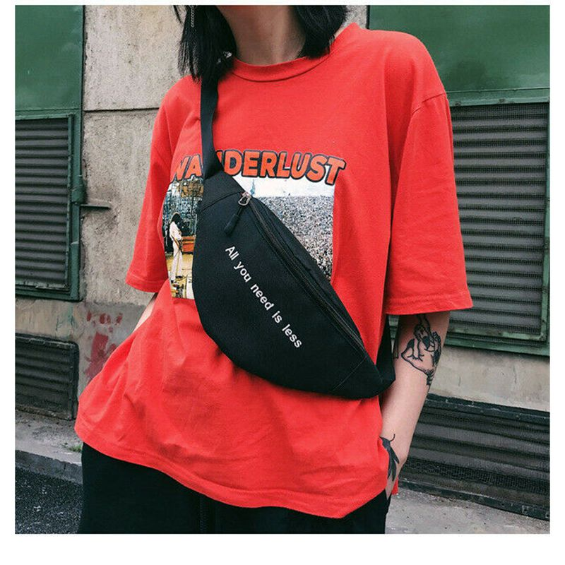 Unisex Waist Bag Fanny Pack Purse Chest Travel Belt Hip-hop Streetwear Accessory /BY