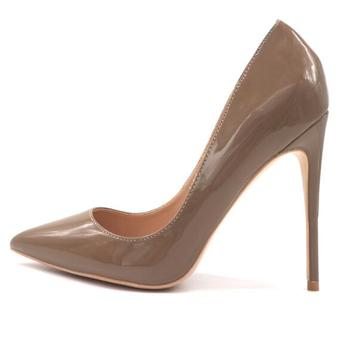 Moraima Snc Newest Patent leather High Heel Shoes Pointed Toe Shallow Stiletto Heels 12CM Super High Party Dress Heels