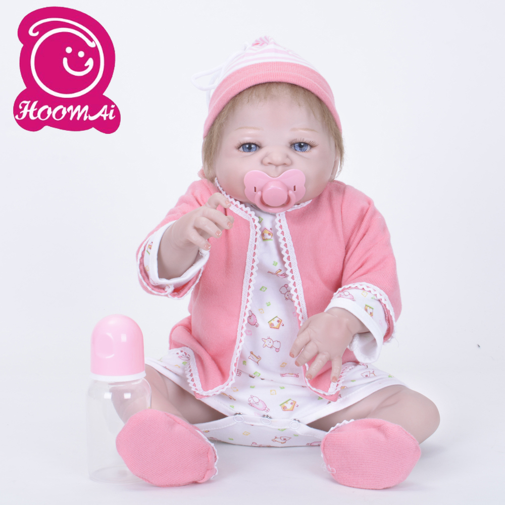 22/'/' Bebe Reborn Baby Silicone Vinyl Girls Doll Toy Reborn Babies Dolls for Sale