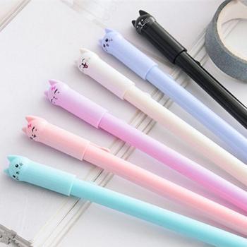 1 шт. набор гелевых магнитных ручек, ручки с милым котом, письменные принадлежности, школьные принадлежности, креативные канцелярские принадлежности, Прямая поставка
