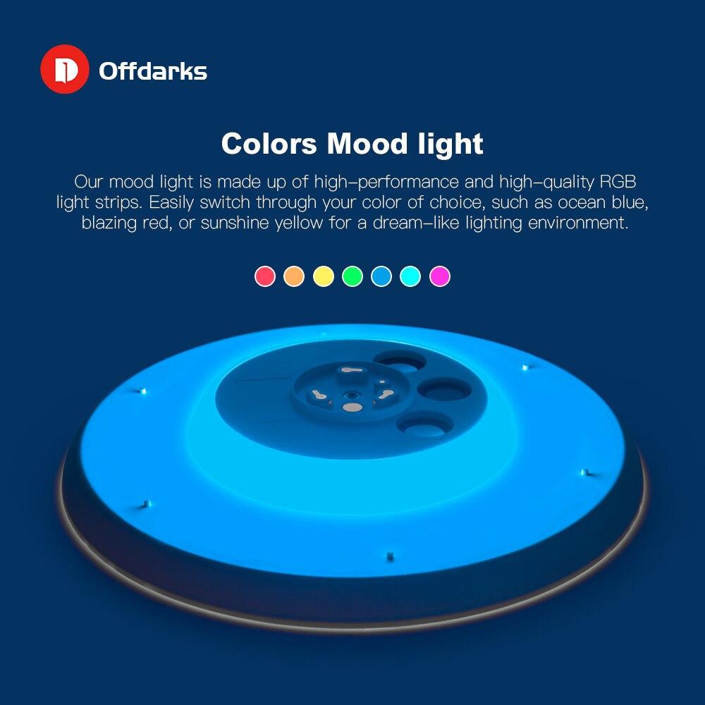 Современные светодиодные потолочные лампы с регулируемой яркостью 36 Вт 48 Вт 72 Вт приложение дистанционное управление Bluetooth музыкальный све... - 3
