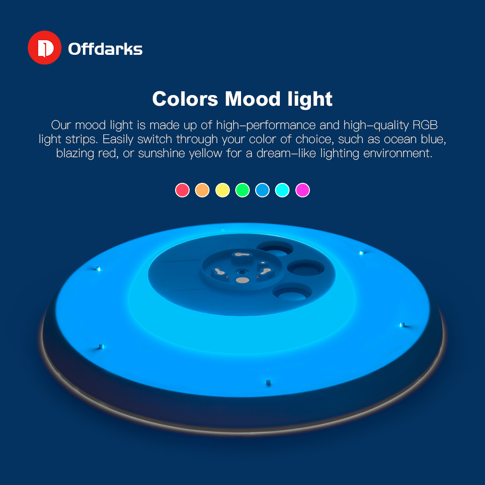 Modern LED ceiling Lights Dimmable 36W 48W 72W APP Remote control Bluetooth Music light speaker foyer bedroom Smart ceiling lamp - 3