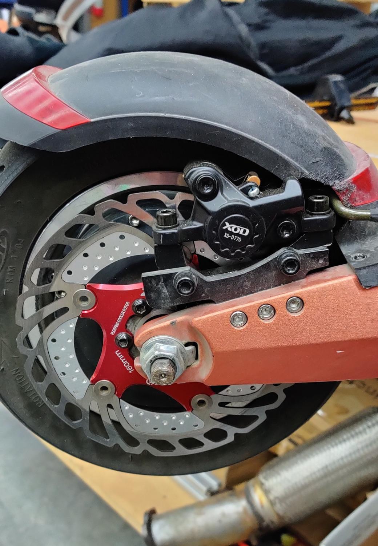 E akcesoria do skuterów rowerowych 140 160 mm ukryty wewnętrzny zestaw hydraulicznych hamulców tarczowych specjalny do prawego mocowania do ZERO 10x Kugoo