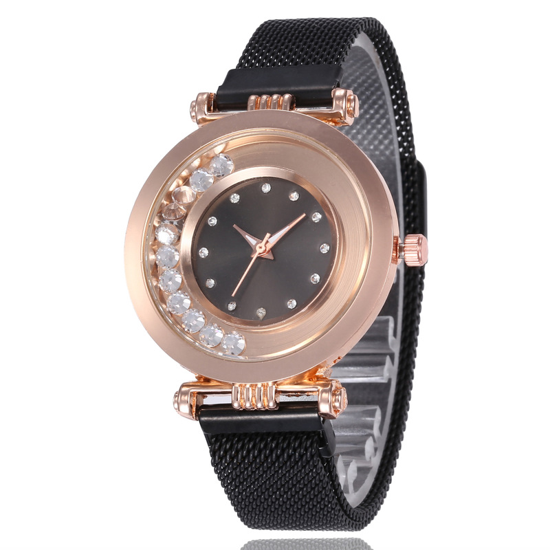 Shopee Explode, Vibrate, Magnetic Button, Pearl Watch, Net Red Diamond, Female Student Quartz Watch Watches