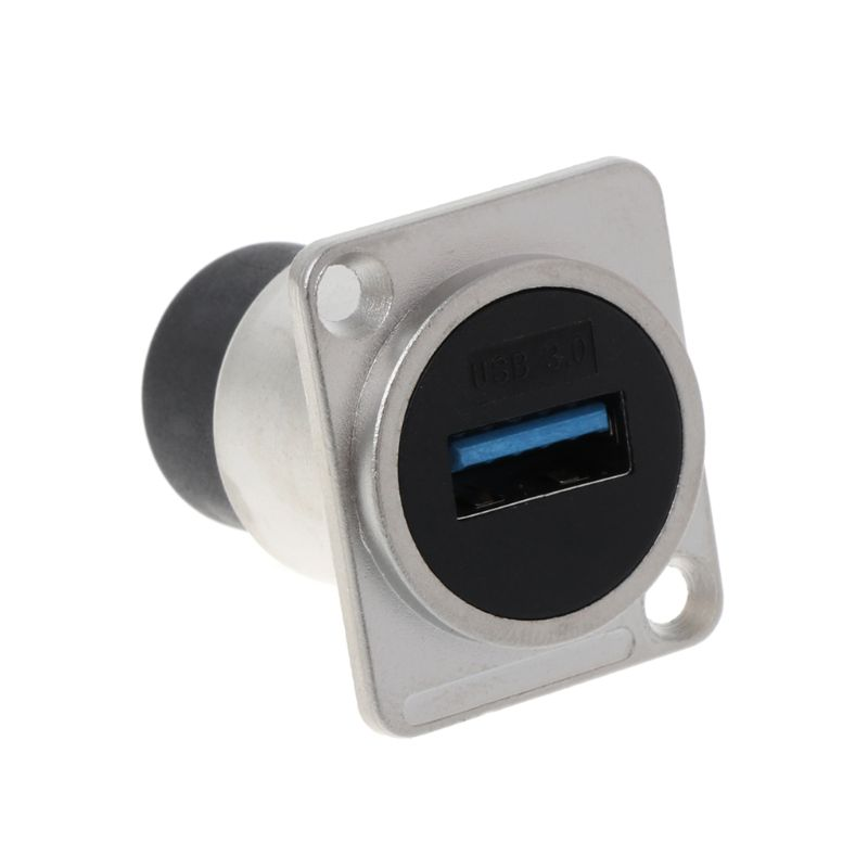USB 2.0/USB 3.0 D Type Socket Metal Female To Female Module Connector USB Plug Panel Mounting Holder Adapter Support