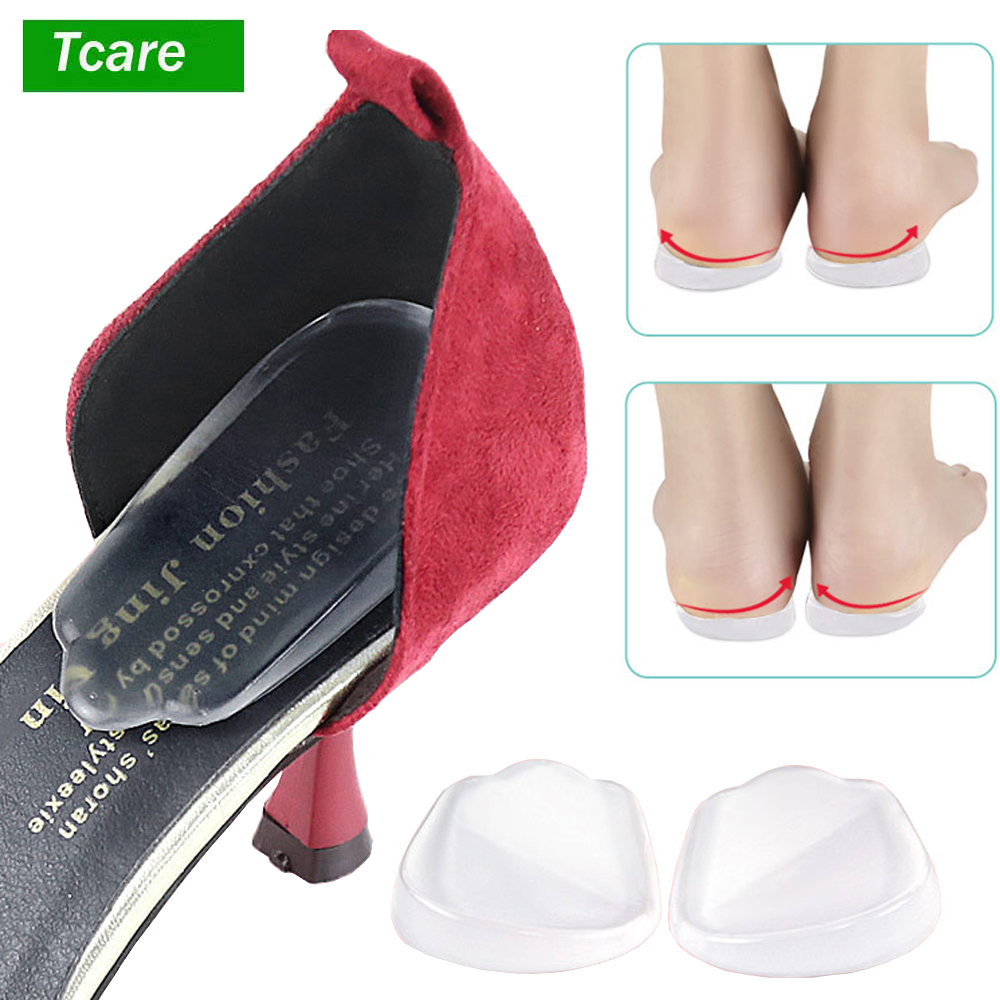 1Pair Orthopedic Insoles Shoe Inserts Medial & Lateral Heel Wedge Lift Silicone Pads Corrective O/X Type Leg For Women/Men