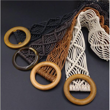 Solid wood buckle head hand-woven belt for multi-color selection The is exquisite and smooth, workmanship meticulous