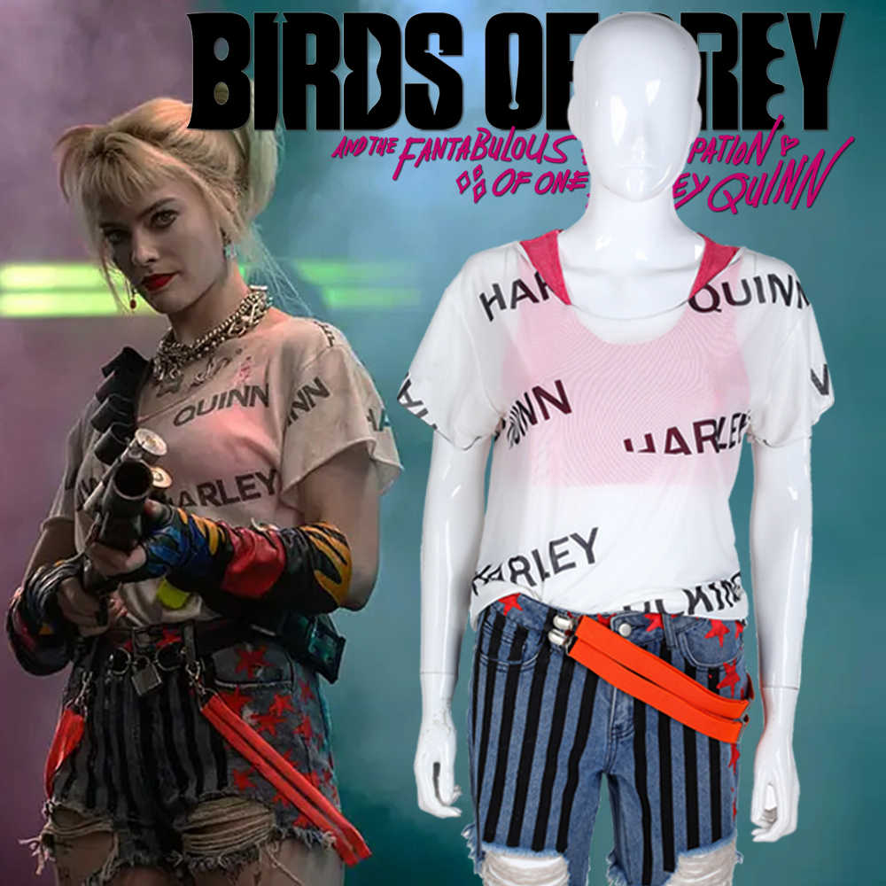 Harley Quinn T Shirt Birds Of Prey Short Pants Cosplay Costume Women T Shirt Suicide Squad 2 Joker Halloween Party Costumes Aliexpress