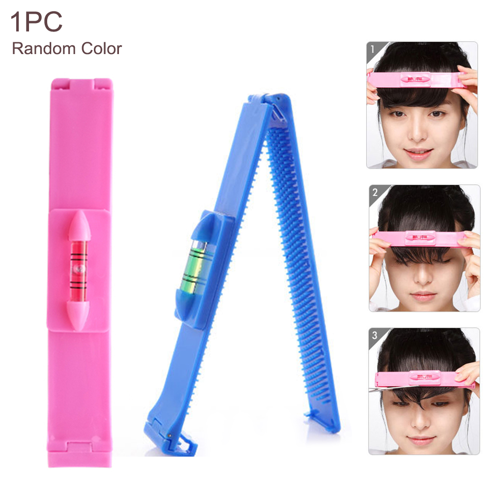 DIY Women Fringe Cut Tool Hair Trimmer Household Clipper Comb Guide For Hair Bang Level Ruler Hair Accessories