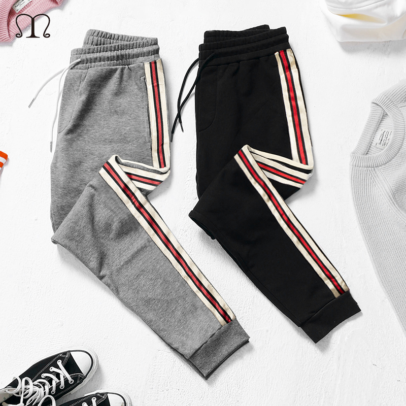 Men's Casual Pants Fashion Spring Summer Trousers Men Pants Slim Fit Sweatpants Cotton Jogger Striped Gyms Bottoms Sportswear