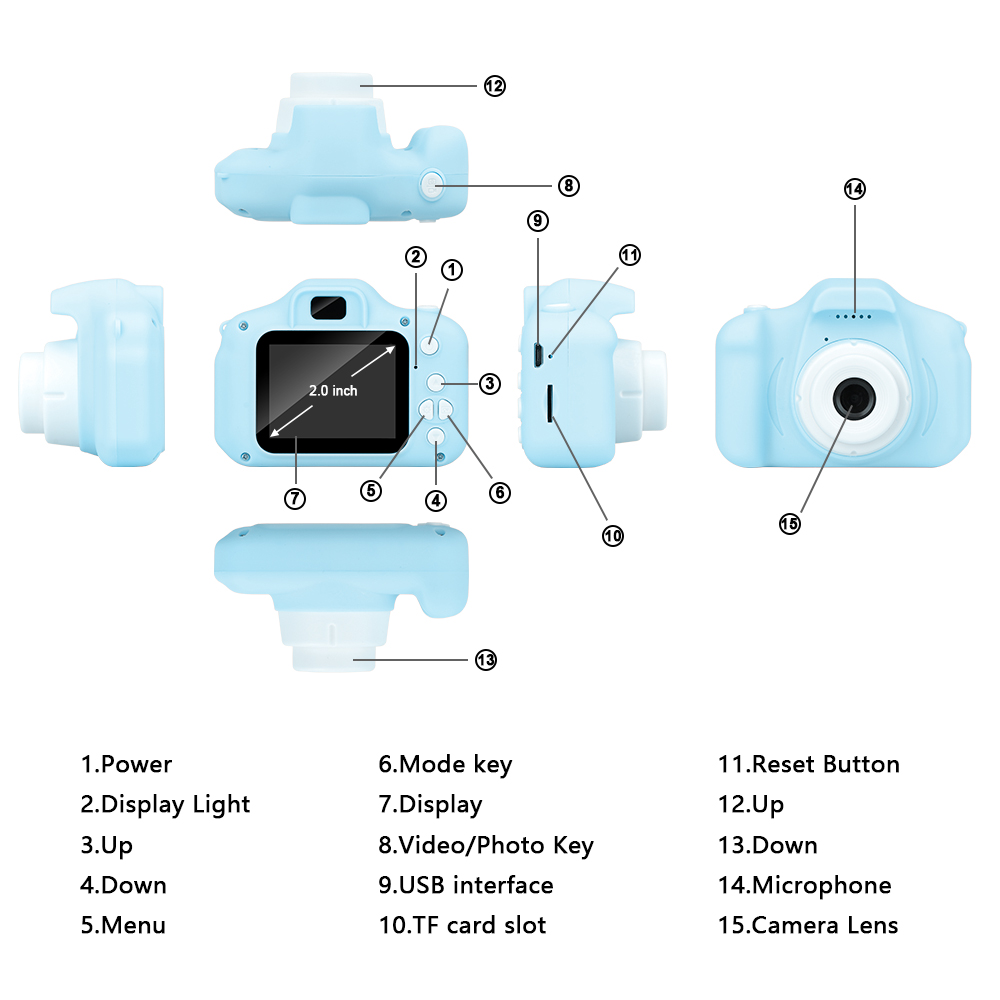 New Arrive  Cheap Rechargeable Photo Video Playback Cameras Kids Toy For Girl 32GB Mini Children's Camera Child Birthday Present 4