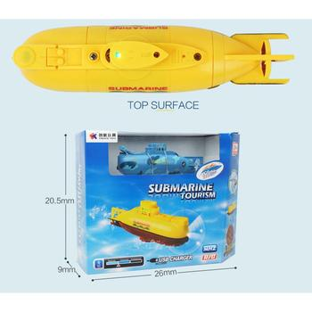 цена на Mini RC Submarine Ship For GloryStar 6CH High Speed Radio Remote Control Boat Model Electric Kids Toy