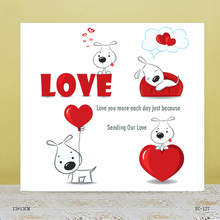 AZSG Beautiful love Clear Stamps For DIY Scrapbooking/Card Making/Album Decorative Rubber Stamp Crafts