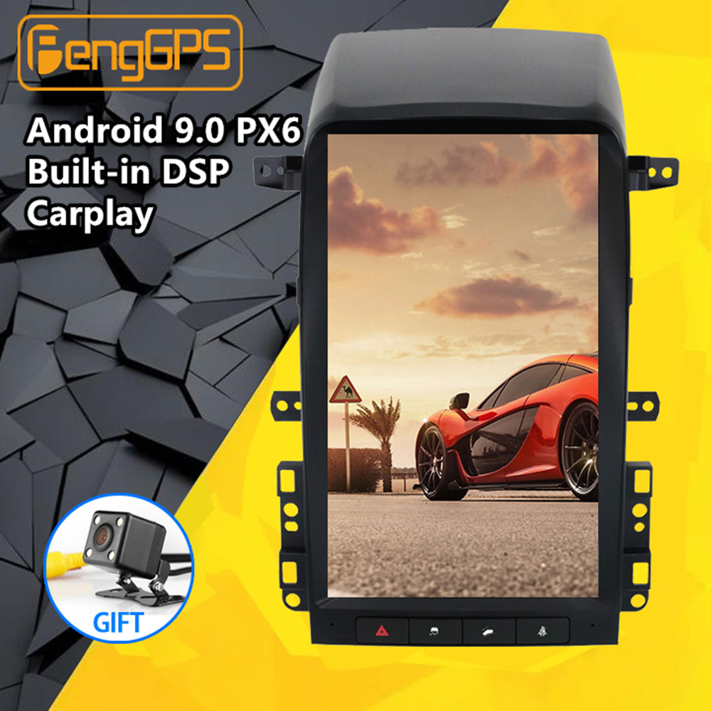 Android PX6 Tesla Style Screen Car Radio GPS Navigation For Chevrolet Captiva 2006 - 2012 Stereo Multimedia DVD Player Head Unit