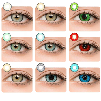 2Pcs/Pair Colorful Series Colored Contact Lenses for Eyes Colored Color Contact Lens Crazy Lenses Eyes Halloween Contact Lenses
