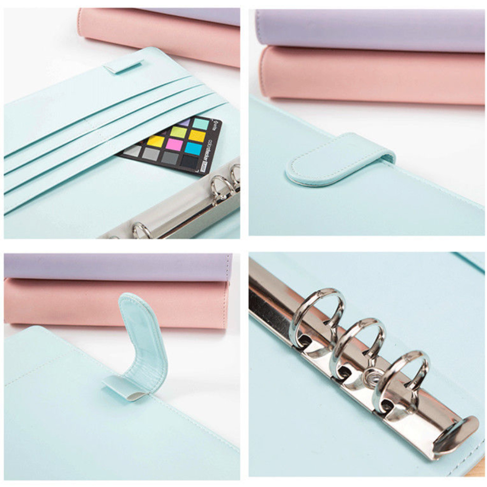 Notepad Cover Ring Binder Cover A5 Loose Leaf Cover Document Office Supplies Recording Case Writing Book Universal Diary
